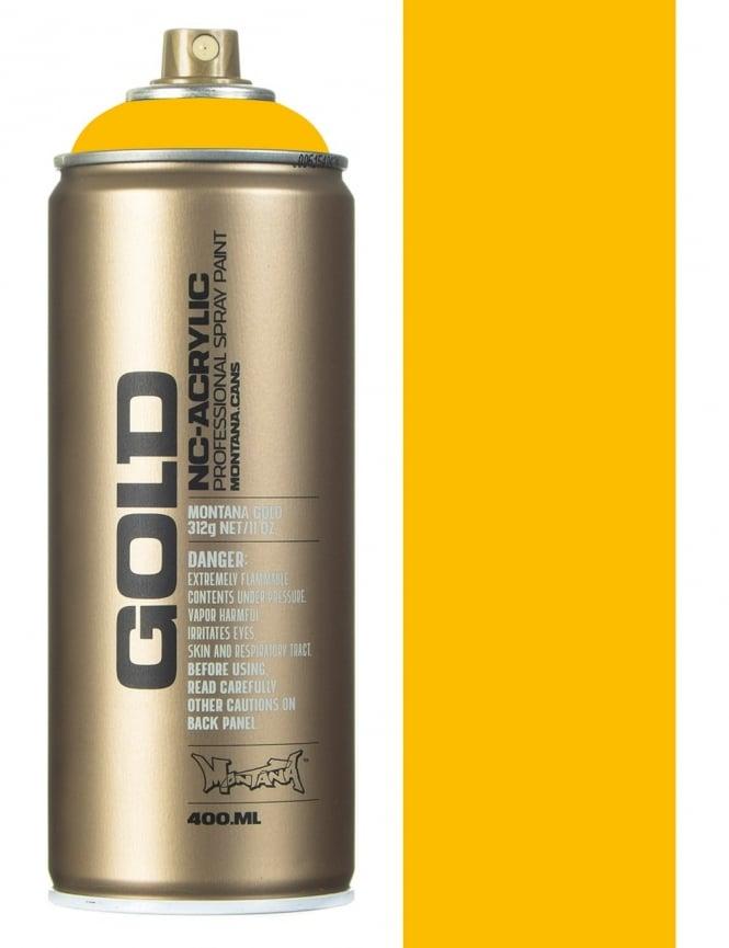 Montana Gold Shock Yellow Spray Paint - 400ml