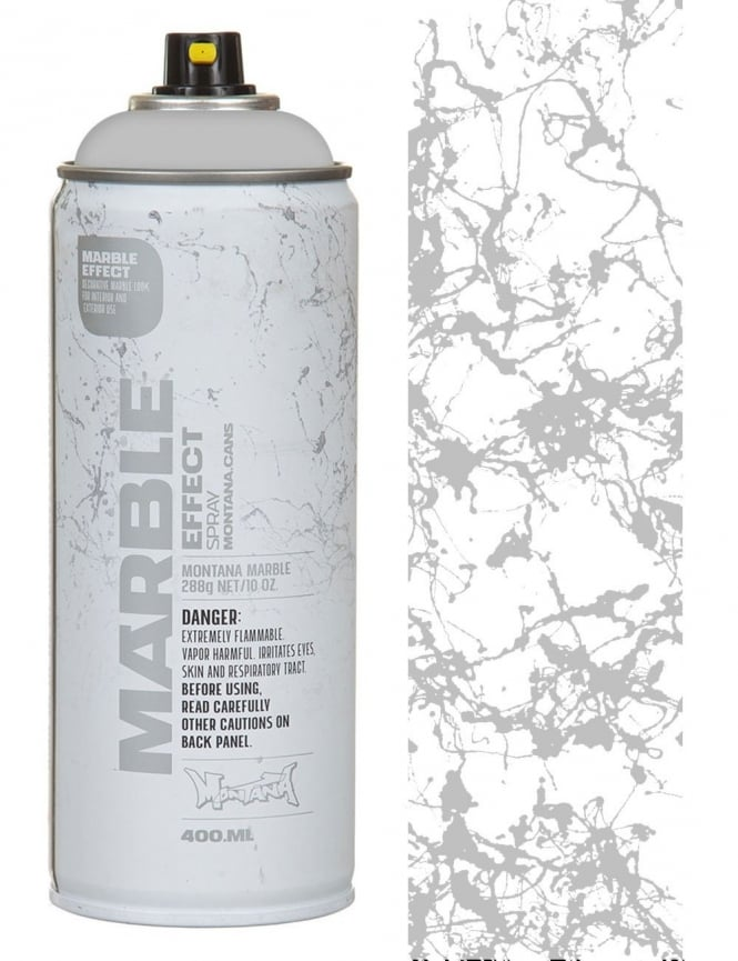 Montana Gold Silver Marble Effect Spray Paint - 400ml