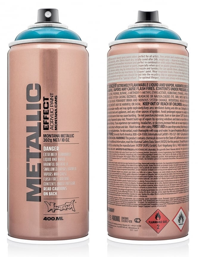 Montana Gold Silver Metallic Effect Spray Paint - 400ml