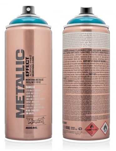 Montana Gold Silver Metallic Effect Spray Paint - 400ml
