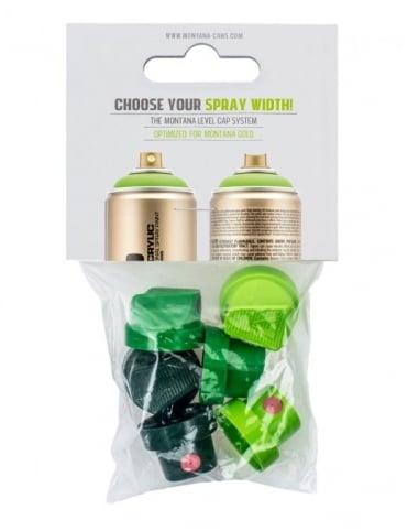 Montana Gold Spray Paint Caps - Level 1-6 Cap Set (6 Pack)