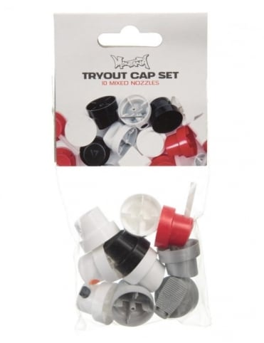 Spray Paint Caps - Tryout Cap Set (10 Pack)