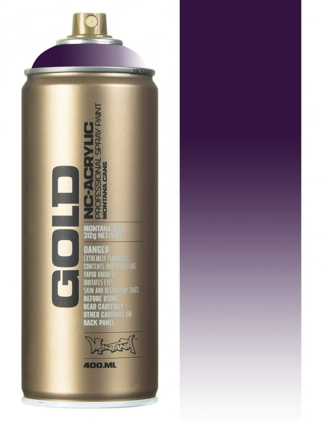 Montana Gold Transparent Black Purple Spray Paint - 400ml