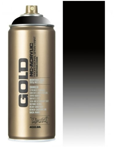 Montana Gold Transparent Black Spray Paint - 400ml