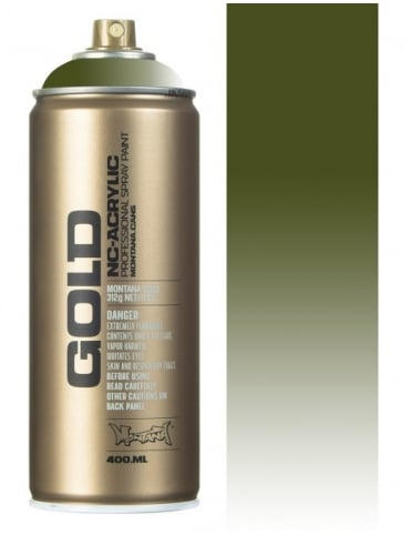 Montana Gold Transparent Olive Green Spray Paint - 400ml