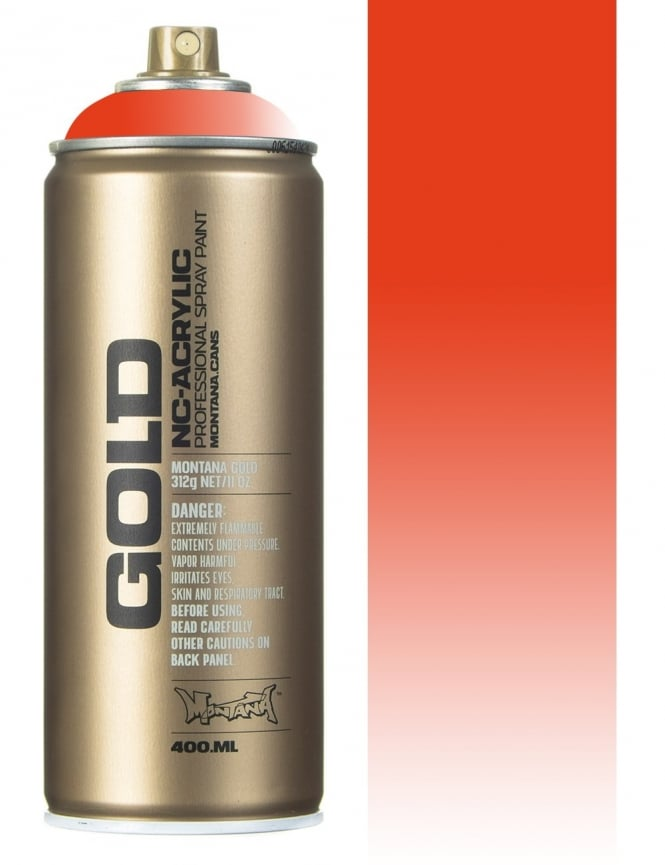 Montana Gold Transparent Red Orange Spray Paint - 400ml
