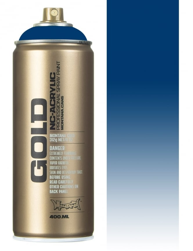 Montana Gold Transparent Ultramarine Spray Paint - 400ml
