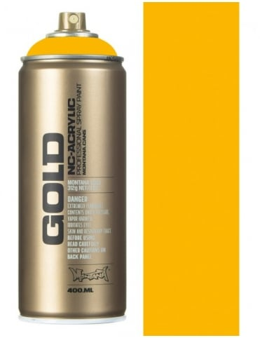 Montana Gold Yellow Cab Spray Paint - 400ml