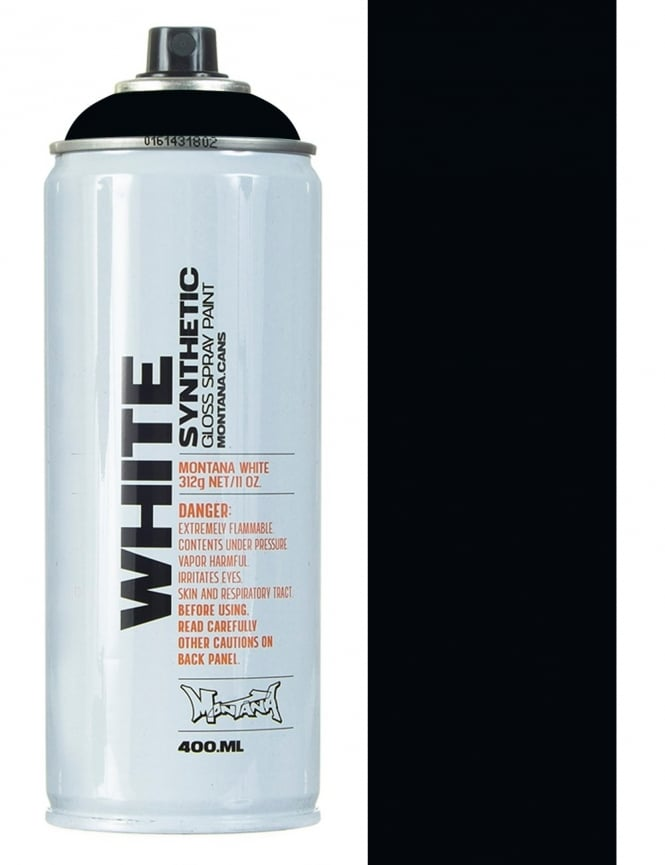 Montana White Black Spray Paint - 400ml