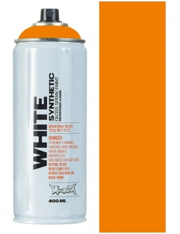 Montana White Bright Orange Spray Paint - 400ml