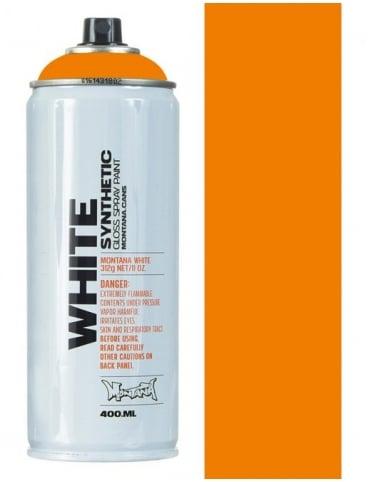 Montana White Bright Orange Spray Paint - 400ml