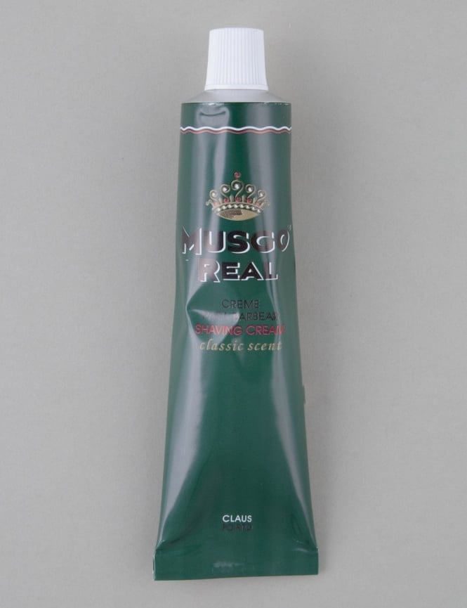 Musgo Real Shaving Cream Tube - Classic Scent (100ml)