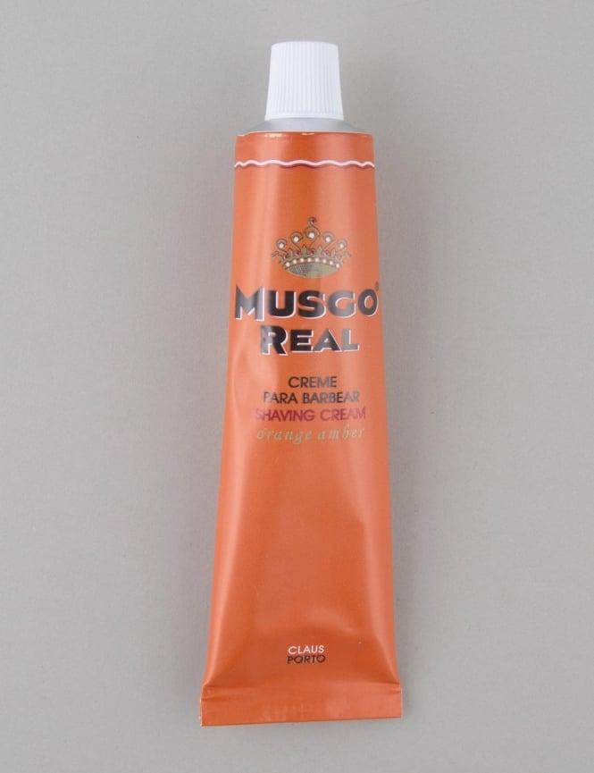 Musgo Real Shaving Cream Tube - Orange Amber (100ml)