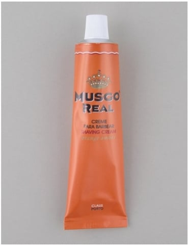 Musgo Real Shaving Cream Tube - Orange Amber (100ml)