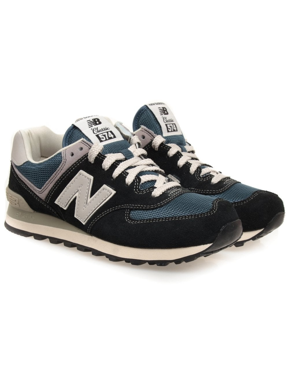 low priced b4b31 b2710 New Balance ML574DNA Trainers - Navy - Footwear from Fat Buddha Store UK