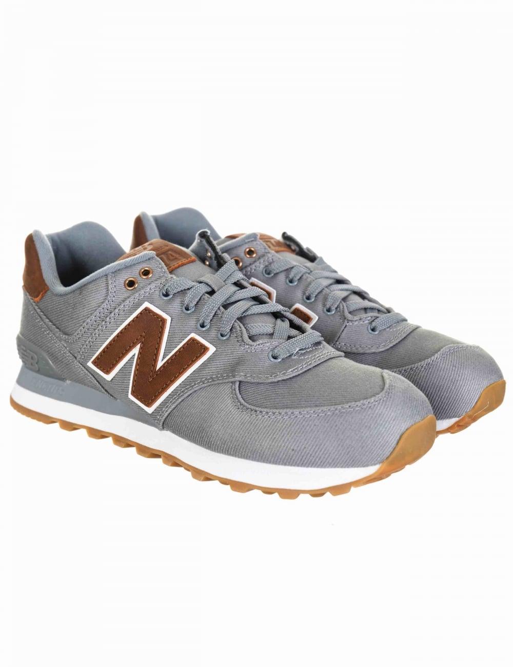 check out 0d4a8 98a1e ML574TXC Shoes - Grey/Tan