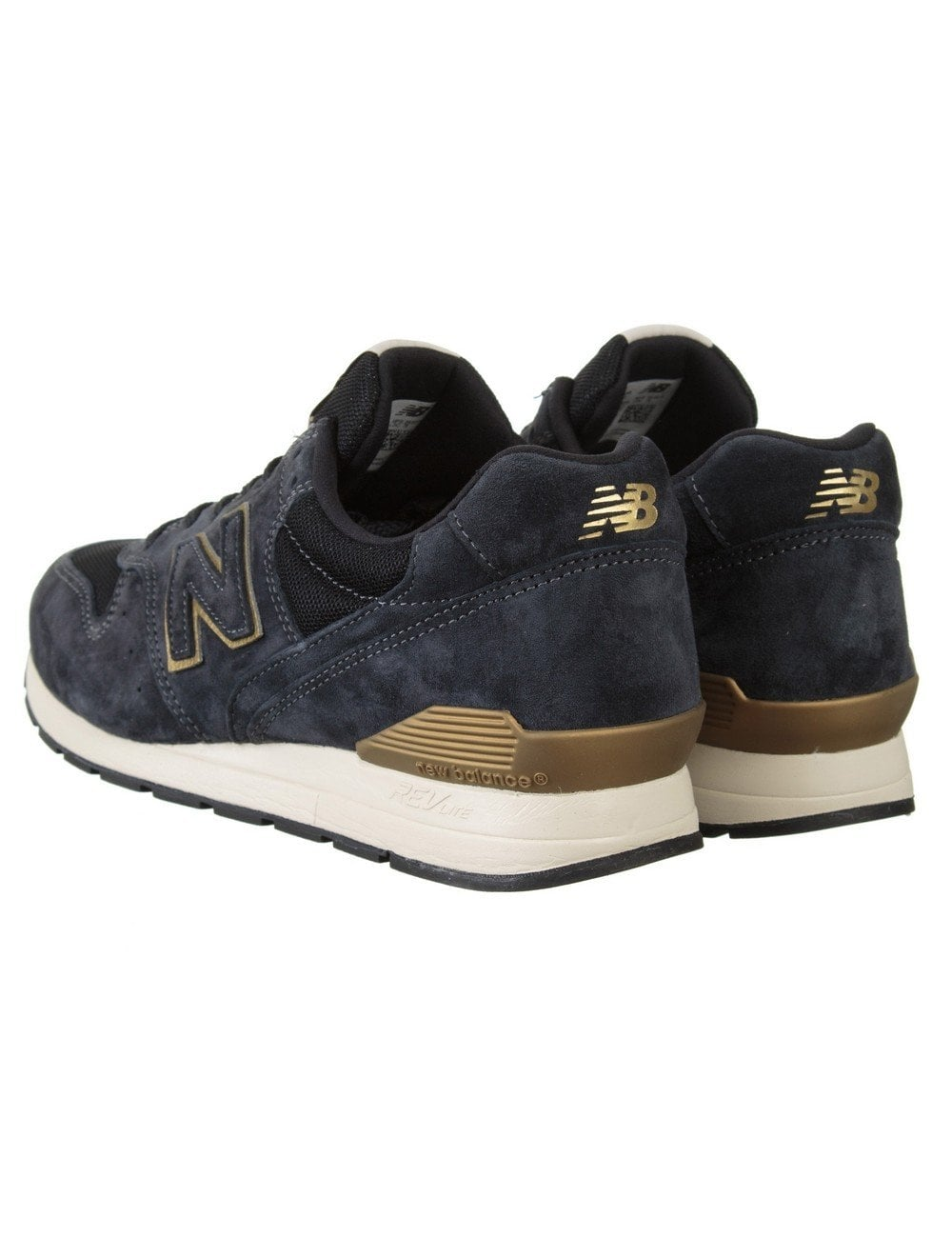 new balance navy gold
