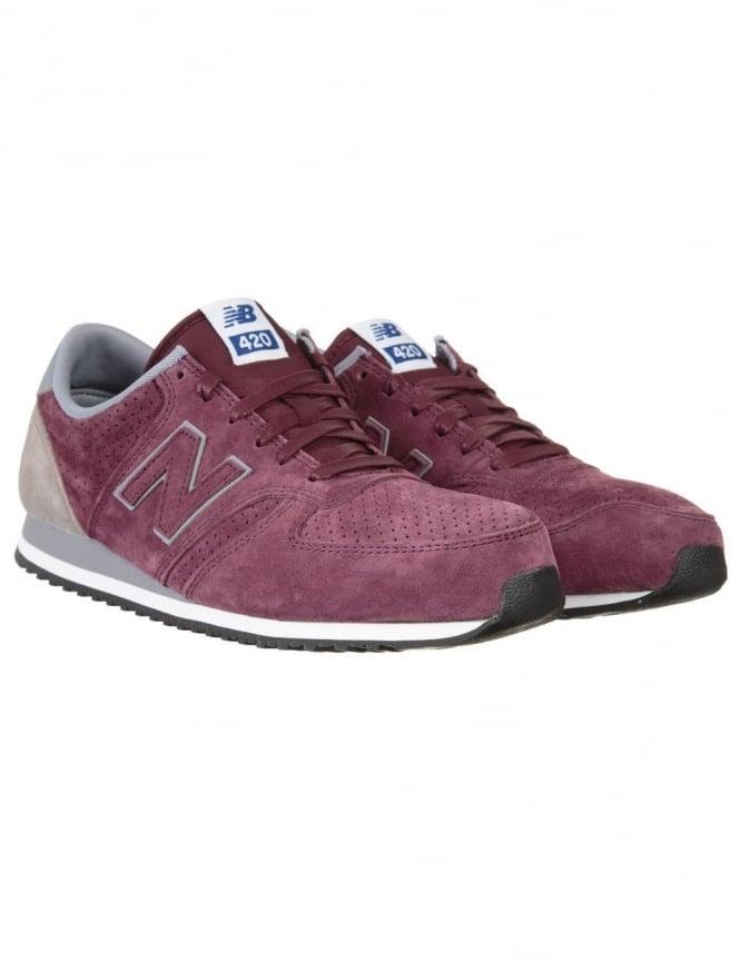 New Balance U420PPB Shoes - Wine/Grey