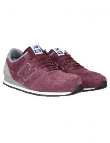 New Balance U420PPB Shoes - Wine/Grey