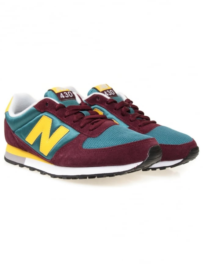 New Balance U430BPY - Burgundy/Green