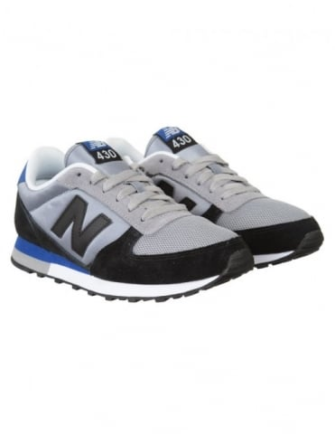 New Balance U430SKG Shoes - Black/Grey/Blue