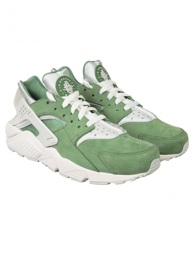 Nike Air Huarache Run PRM Shoes - Training Green/Light Bone
