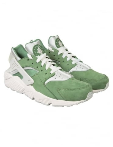 Air Huarache Run PRM Shoes - Training Green/Light Bone
