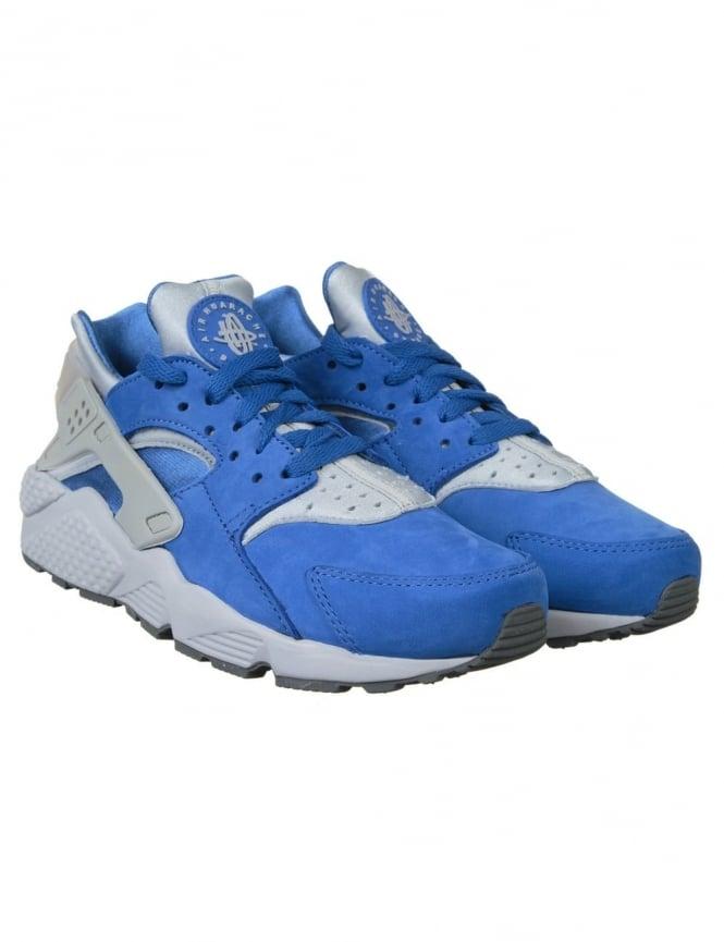Nike Air Huarache Run PRM Shoes - Varsity Royal/Wolf Grey