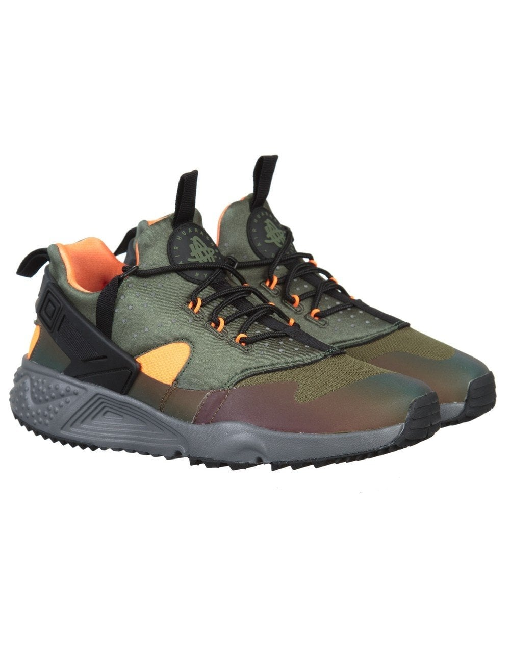 best service b87ae 29e09 Nike Air Huarache Utility Premium Shoes - Carbon GreenBlack