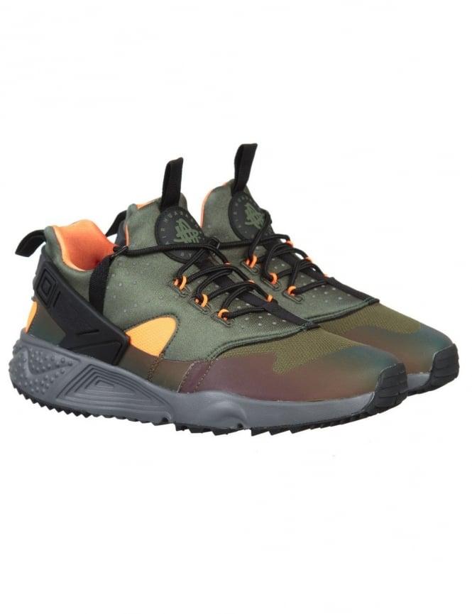 Nike Air Huarache Utility Premium Shoes - Carbon Green/Black