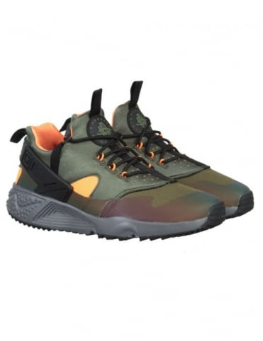 Nike Air Huarache Utility Premium Shoes - Carbon Green/Black
