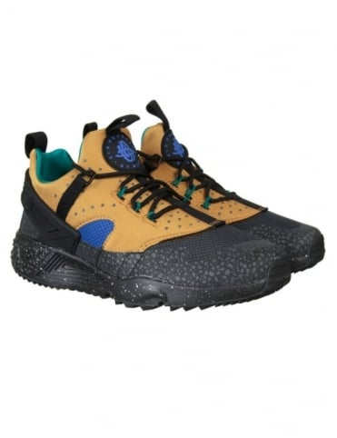 Air Huarache Utility PRM Shoes - Bronze/Black-Racer Blue
