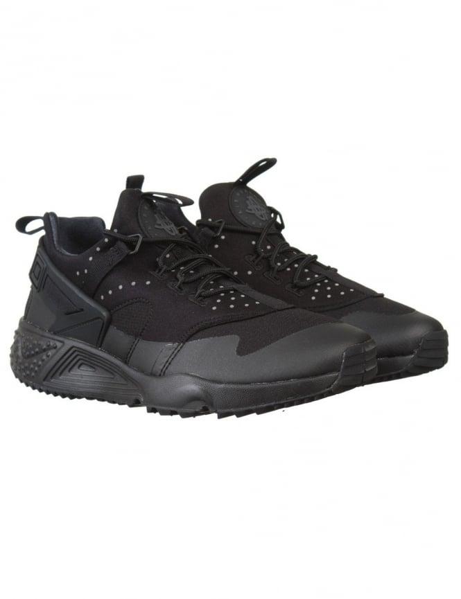 Nike Air Huarache Utility Shoes - Black/Black