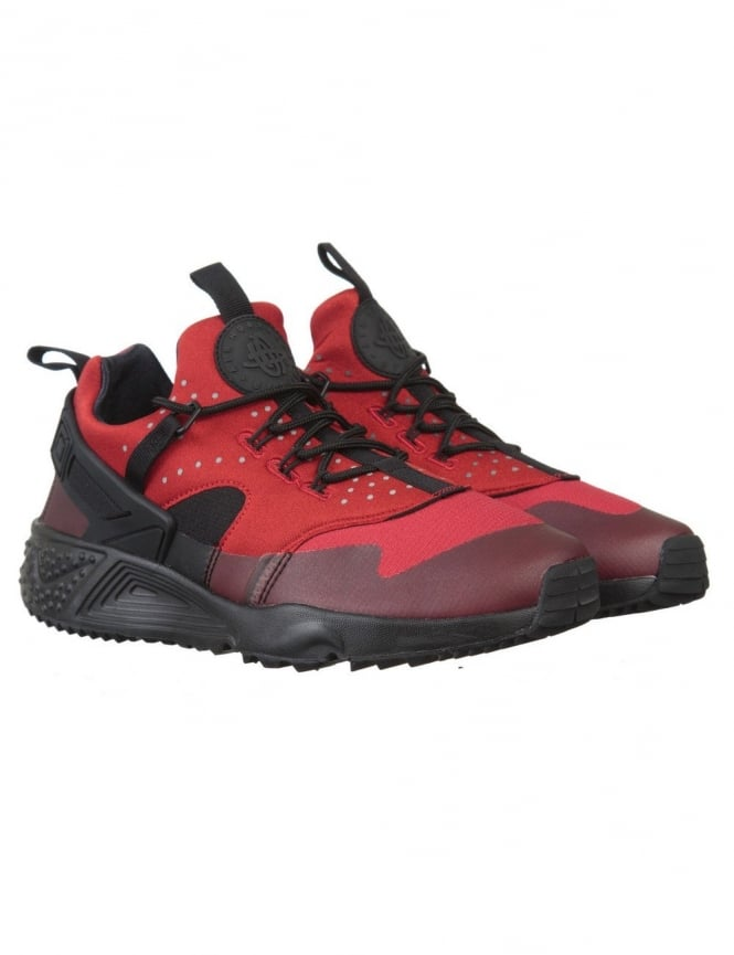 Nike Air Huarache Utility Shoes - Gym Red/Black