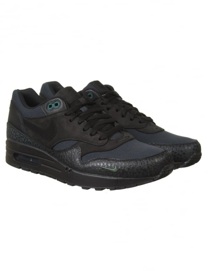 viernes Interactuar africano  Nike Air Max 1 Premium Shoes - Black/Black (Safari Pack) - Footwear from  Fat Buddha Store UK