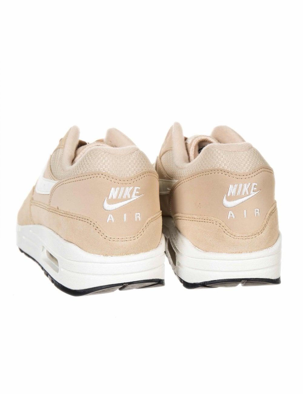 nike air max 1 beige trainers