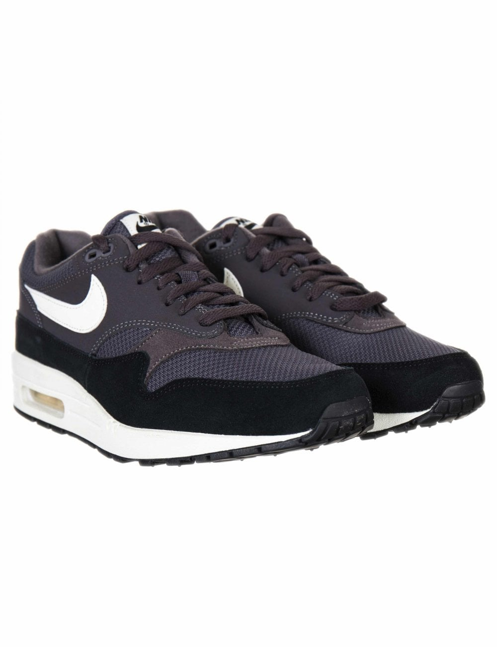 stable quality new high pretty cool Air Max 1 Trainers - Thunder Grey/Sail