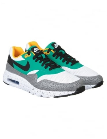 Nike Air Max 1 Ultra Essentials Shoes - White/Black/Emerald Green