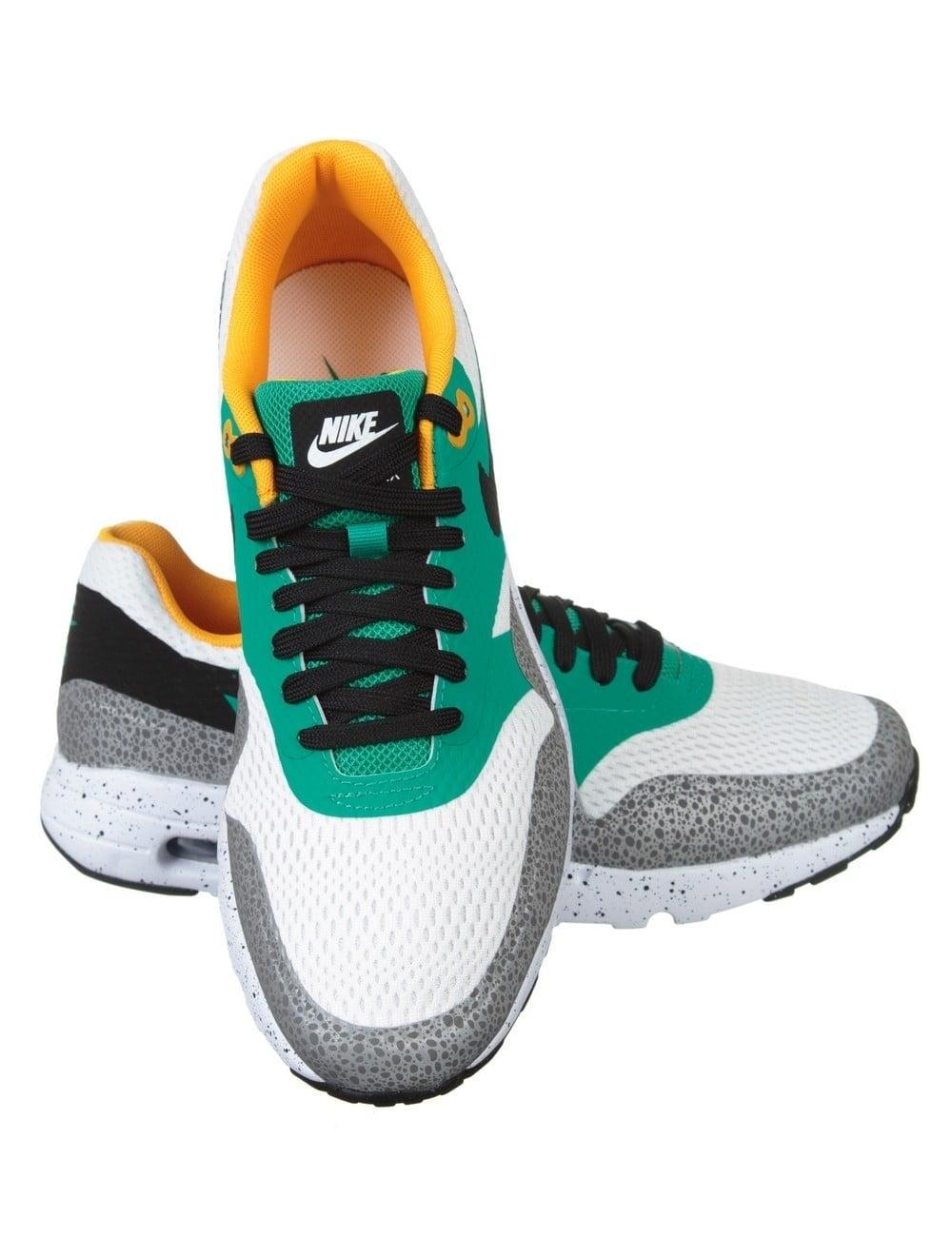 Nike Air Max 1 Ultra Essential White, Black, Emerald Green