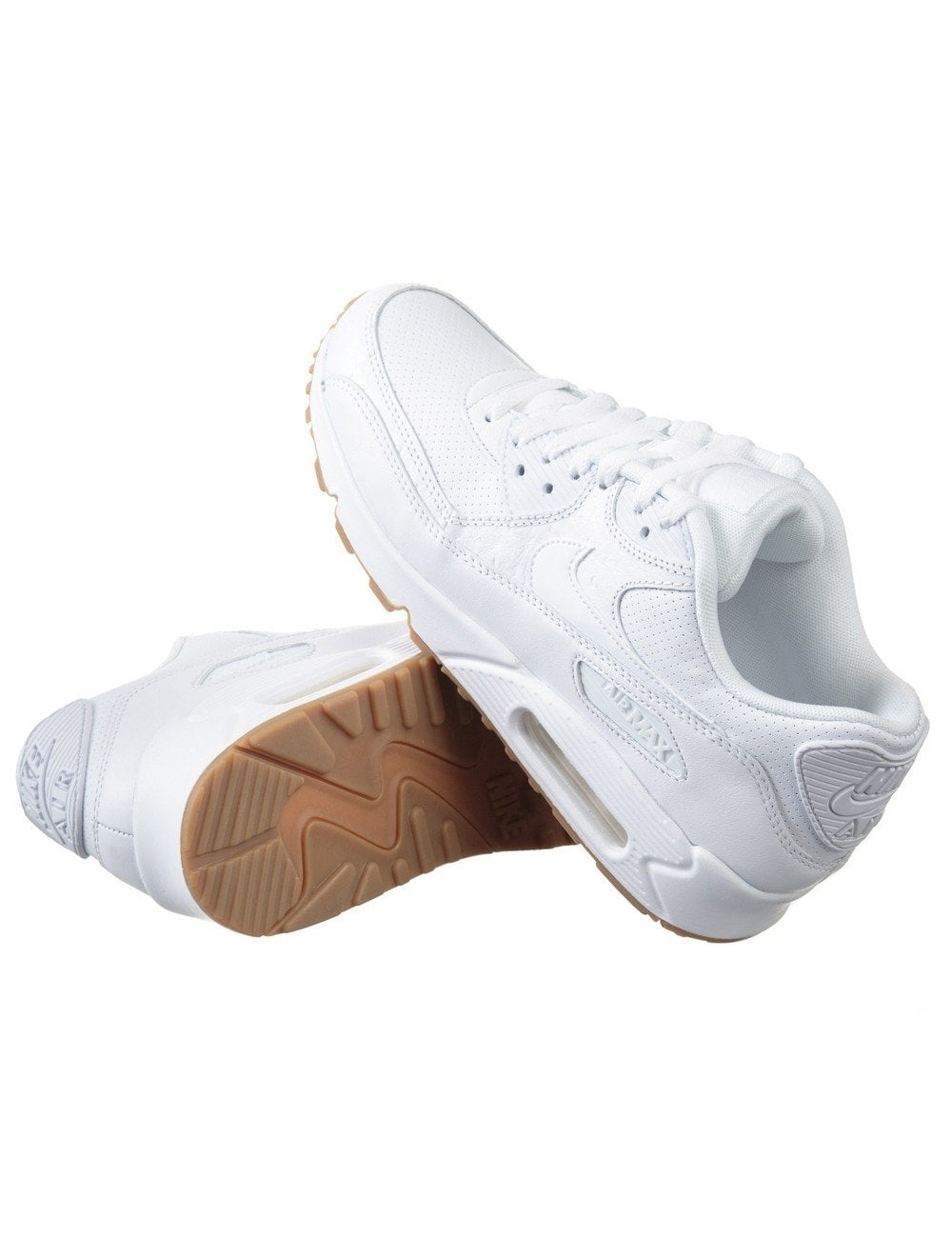 the latest a7507 c4313 Air Max 90 Run PA Shoes - Triple White Gum