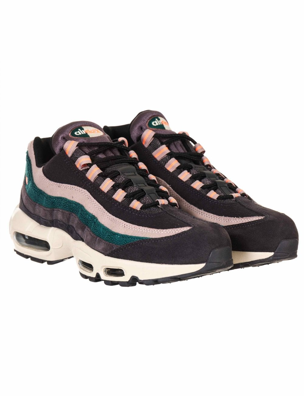 online store 3ef1f 6e9f2 Nike Air Max 95 Premium Trainers - Oil Grey Bright Mango