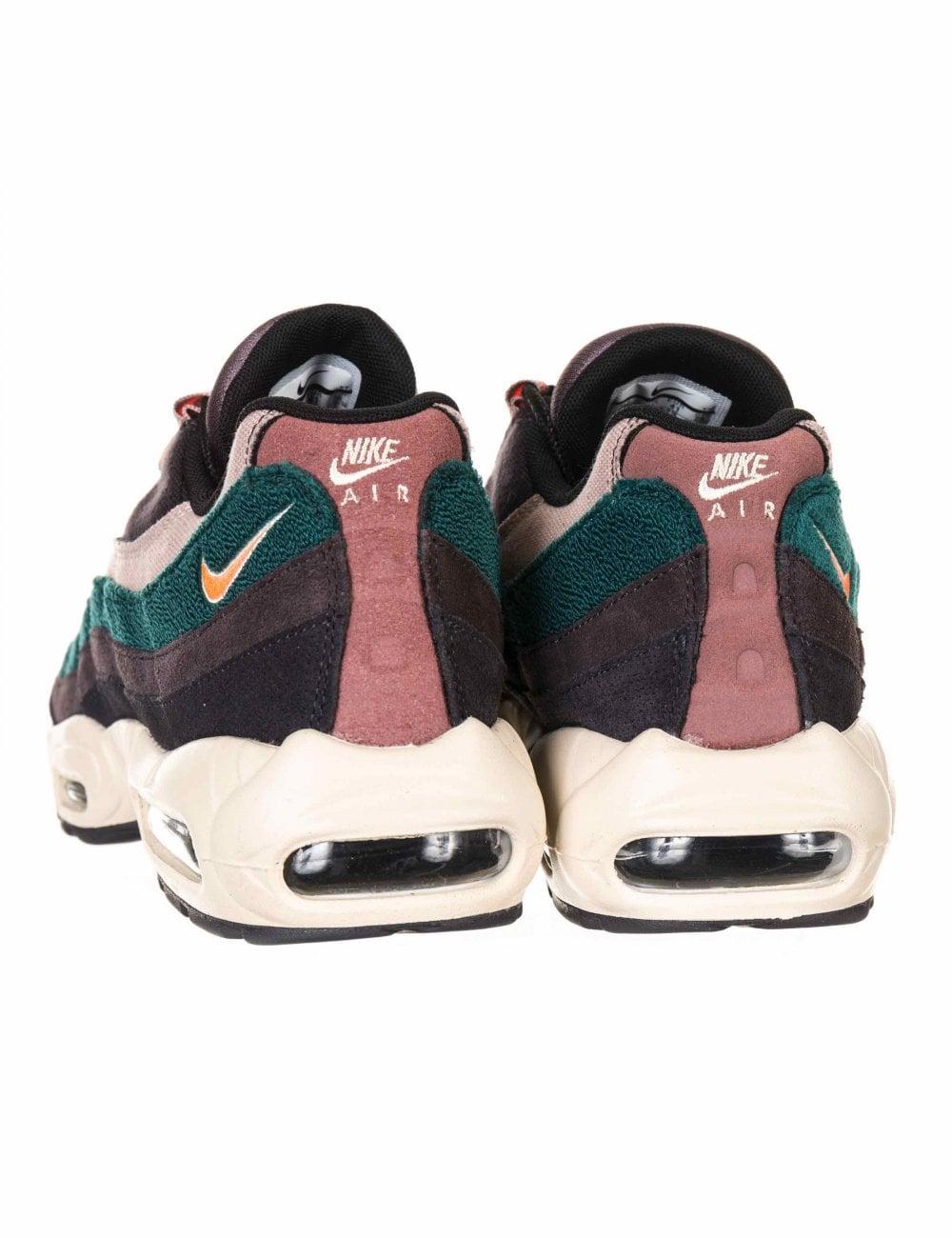 Nike Air Max 95 Premium Trainers - Oil Grey Bright Mango - Footwear ... 3f6dd9af8