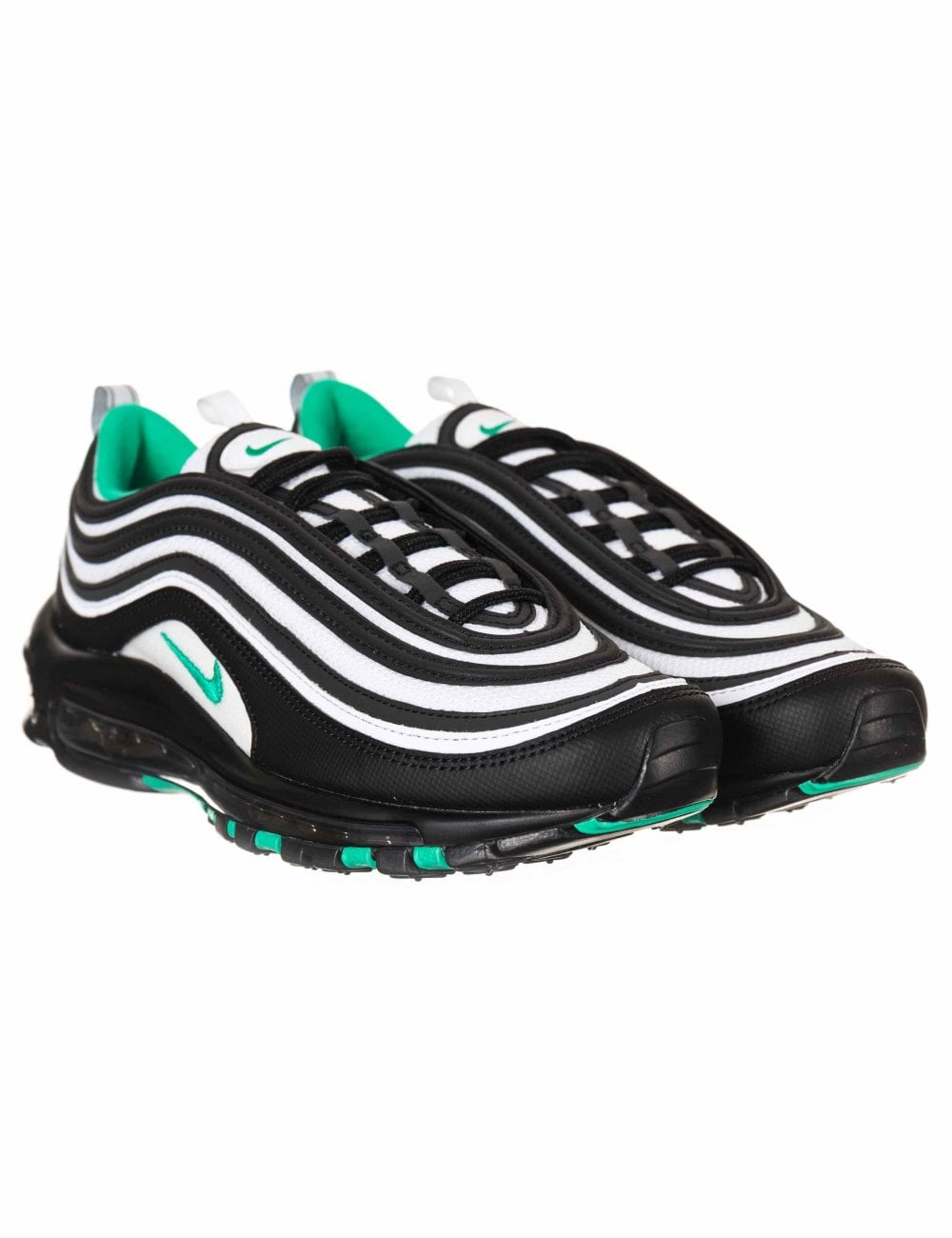 9e279a013c Nike Air Max 97 Trainers - Black/Clear Emerald - Footwear from Fat ...