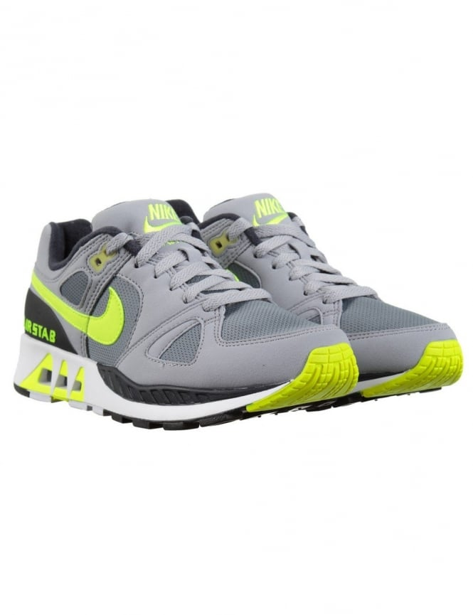 Nike Air Stab Shoes - Cool Grey Volt - Footwear from Fat Buddha Store UK cc0a37d84