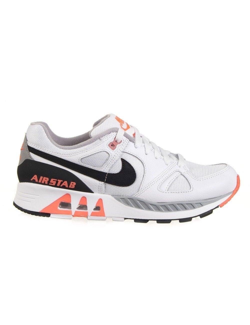 eb53385ae14c7 Air Stab Shoes - White/Black/Hot Lava