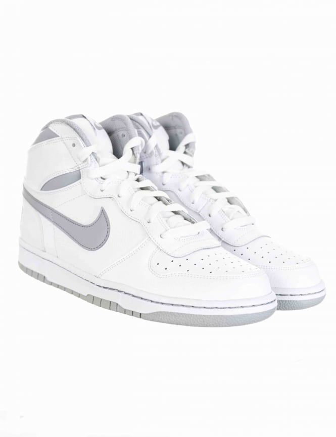 san francisco 0ea89 28e85 nike big hi shoes white wolf grey footwear uk