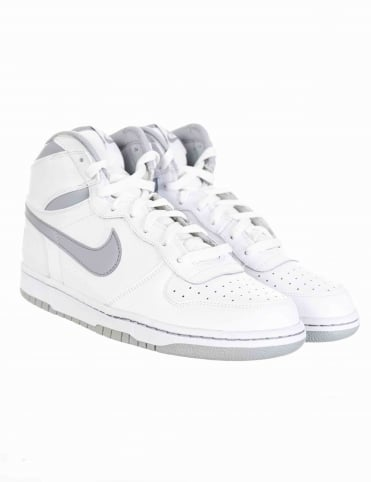 Big Nike Hi Shoes - White/Wolf Grey