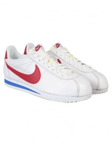 Nike Classic Cortez Leather Shoes - White/Varsity Red