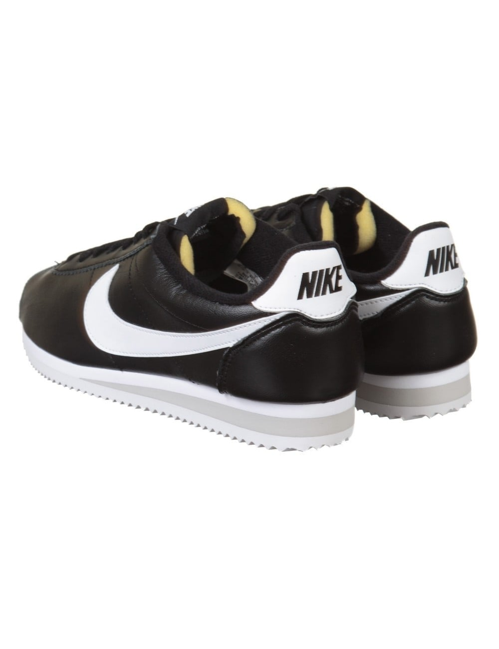 nike classic cortez prm leather shoes black white nike