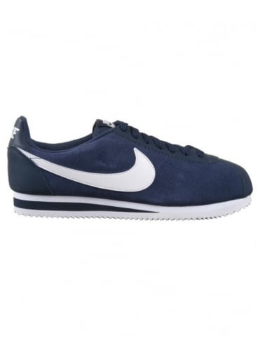 Cortez Leather Shoes - Midnight Navy/White